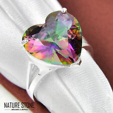 Pure Love Jewelry Gift Rainbow Mystical Topaz Gems Solid Silver Rings Size 7 8 9