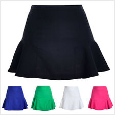 NEW Woman's Slim Solid Bodycon High Waist Flared Ruffle Pencil Fish Tail Skirt
