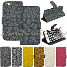 "For Apple iPhone 6 4.7"" Flip PU Leather Leopard Pattern Wallet Stand Case Cover"