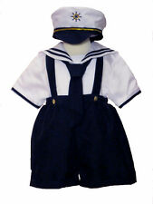 Boy's Sailor Outfit Set,Navy Blue/White,Size: Small to 4T