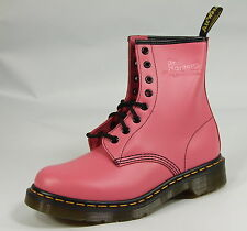 Dr Doc Martens Airwair Womens 1460 Pink 8 Eye Smooth Leather New Boots UK 3-9