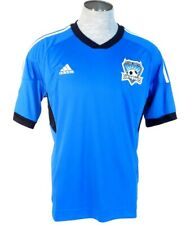 Adidas ClimaCool MLS San Jose Earthquakes Blue Short Sleeve Soccer Jersey Mens