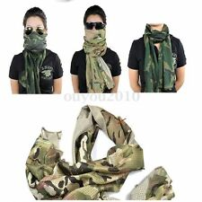 Military Camping Camouflage Scarf Face Veil Sniper Cover Mesh Army Neckerchief