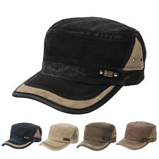 Fashion Men Women Classic Plain Hat Adjustable Army Military Cadet Baseball Cap
