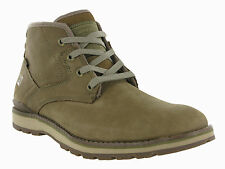 Mens Caterpillar Rayden Mid Treemoss Brown Leather Ankle Fashion Boots Size 7-12