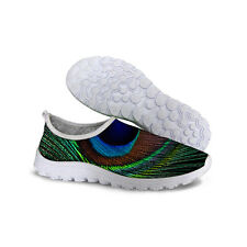 Green Fashion Sneakers Womens Air Mesh Casual Walking Shoes Sports Running Shoes
