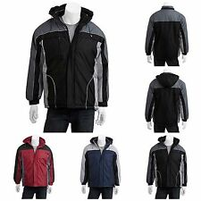 Climate Concepts Big Men's Fleece Lined Winter Jacket with Removable Hood