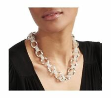 Bold Twisted Multi Oval Link Chain Necklace Real Sterling Silver 925 54gr