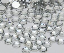 clear sparkling Resin Flatback Crystal Rhinestone  2,3,4,5,6MM 14 Facets