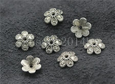 30/100/500pcs Tibetan Silver Flower Bead Caps Charms Beads Cap Craft 9mm