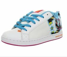 NEW DC SHOES COURT GRAFFIK SE Womens 7, 7.5, 8 Skate White Atoll Tiger NIB
