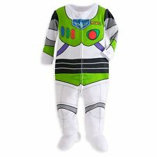 Disney Store Toy Story Buzz Lightyear Costume Footed Pajama Boy Size 18-24 M