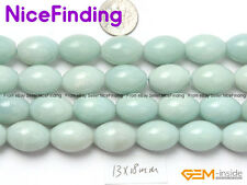 Olivary Natural Amazonite Stone Beads For Jewelry Making Wholesale Beads 15''DIY