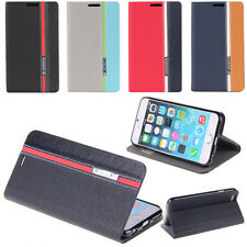 BookStyle Wallet Leather Flip Stand Case Cover For iPhone Samsung Nokia Sony HTC