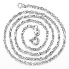 Pure 925 Sterling Sliver Water Wave Twist Singapore Chain Necklace Thick 1.5 mm