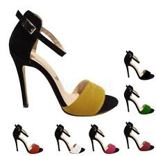Women Shoes Spell Color High Heel Sandals Open Toe Shoes 11cm US 5-10 L5YG