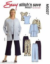 Open Front Jacket, Top & Pants in 2 Lengths - Easy McCall's Sewing Pattern 5027