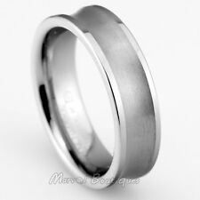 7mm Men's Women's Special Tungsten Carbide with Matte Brushed Wedding Band Ring