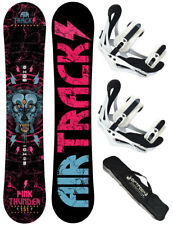 AIRTRACKS Lady Snowboard Set: Pink Thunder+Binding Savage W+Pad Bag /144 150 156