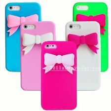 3D Bowknot Soft Rubber Silicone Back Case Shell Cover for iPhone 6 6 Plus 5 5s