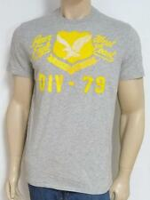 American Eagle Outfitters DIV-79 Mens Gray Applique T-Shirt New NWT