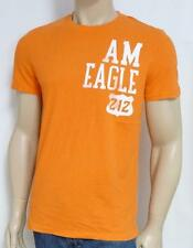 American Eagle Outfitters AEO 212 Mens Orange Double Logo T-Shirt AEO New NWT