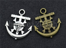 10/40/200pcs Tibetan Silver Pirate ships anchor Jewelry Charms Pendant 22x19mm