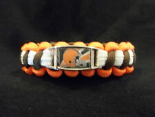 Cleveland Browns CUSTOM Paracord Survival Bracelet with Buckle NFL Football