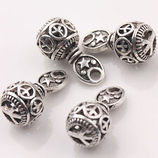 10/20Pcs Peace Round Tibetan Silver Charms Pendants Handcraft Findings 10x20mm
