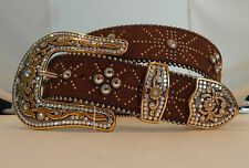 Tony Lama New Rhinestone Leather Belt  Sizes 38, 40, 42 NWT C50745