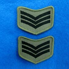 2 Army Police Airforce Rank Sew on Embroidered Cloth Patch Badge Applique Biker