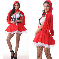 S M L XL 2XL 3XL 4X Little Red Riding Hood Halloween Cosplay Costume Fancy Dress