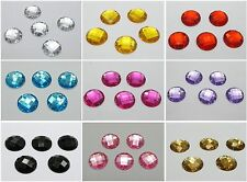 100 Flatback Acrylic Faceted Round Sewing Rhinestone Beads 16mm Choose Color