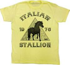 Rocky Italian Stallion 1976 Horse Men's Yellow T-Shirt S,M,L,XL,2XL
