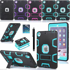 Shockproof Heavy Duty Rubber Hard Back Stand Cover Case For Apple iPad Mini 2 3
