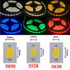 5M 5630 3528 5050 RGB Led Strip Light DIY Flexible Party Car Lamp Waterproof 12V