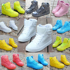 Candy color Women Sneakers Trainers Lace Up High Tops Sports Shoes Ankle  Boots