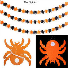 Halloween Props Garland Pumpkin Spider Hanging Ghost Paper Party Decor Scary