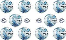 10 x MITRE IMPEL TRAINING FOOTBALLS - WHITE/BLUE - SIZES 3,4 & 5