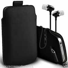 Pull Tab Phone Pouch Case+In Ear Headphones Headset?ZTE Blade D6