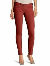 NEW Lucky Brand Womens Canyon Red Charlie Slim Fit Skinny Ankle Denim Jeans