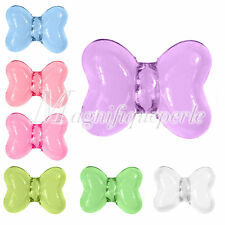 20pcs Butterfly Acrylic Round Beads Necklace Jewellery Making Lots 16x12x9mm