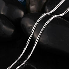 """New! Wholesale Lots 15pcs Silver Plated 2.0mm Flat Chain Necklace 16""""-30"""""""