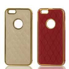 """Metal Frame Rhombus Pattern Skin Cover Case for Apple iPhone 6 4.7"""""""