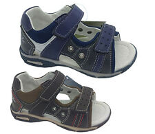 Boys Shoes Grosby Gaz Jnr Navy or Brown Size 4-12  Sandals leather lined