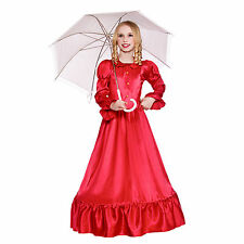 Girls Deluxe Victorian Lady Fancy Dress Up Party Costume Halloween Child Outfit