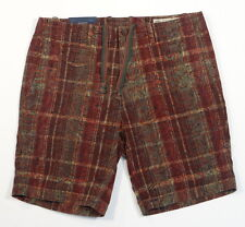 Polo Ralph Lauren Classic Fit India Madras Flat Front Shorts Mens NWT