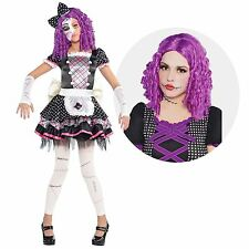 Girl Damaged Doll Sally Nightmare Monster Fancy Dress Halloween Costume FREE WIG