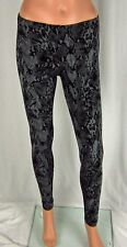 Womens NWT HUE Python Print Cotton Leggings Black Snake Skin U14786 Sizes XS-XL