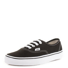 Womens Vans Authentic Black White Lace Up Casual Skate Shoes Trainers Size